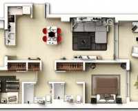 New Build - Ground floor apartment - Punta Prima